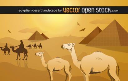 Paisagem do deserto egípcio