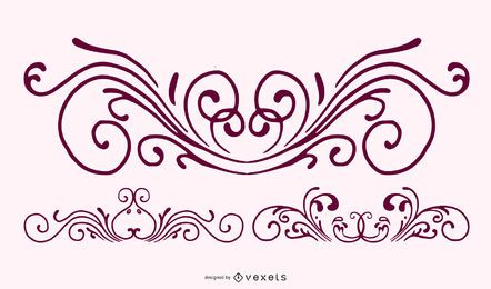Isolated free vector Ornaments 5