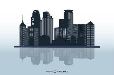 Vektor-Stadt-Skyline-Kunst