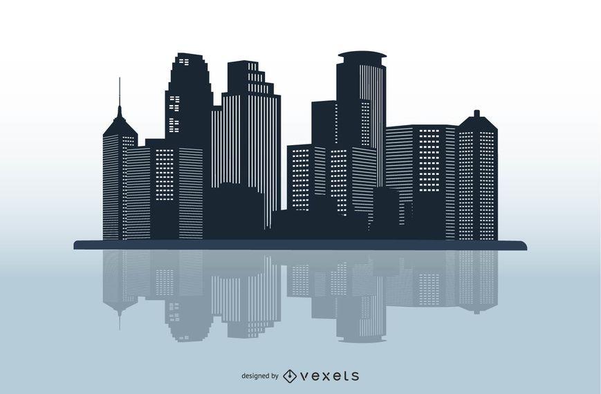 Vector City Skyline Art