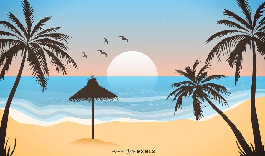 Paisaje tropical de playa