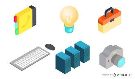 90er Jahre Technologie Icons