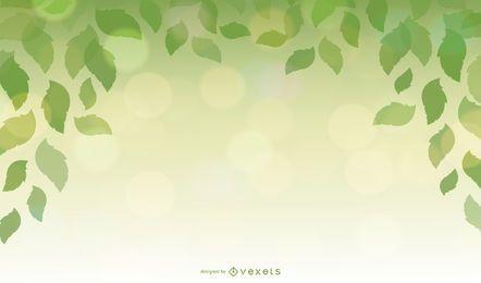 Elemento de design com folhas verdes