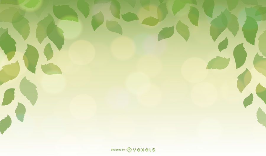 Design Element with Green Leaves