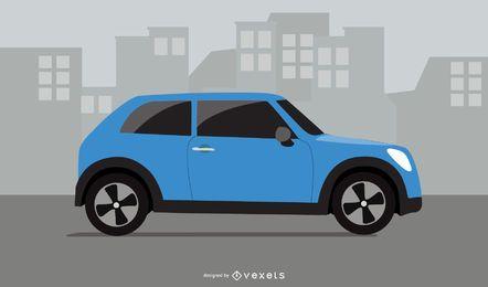 Vector Compact City Car
