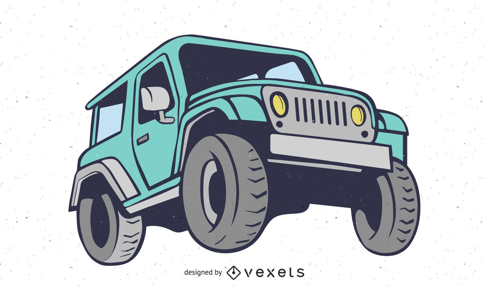 Vector plano de camión