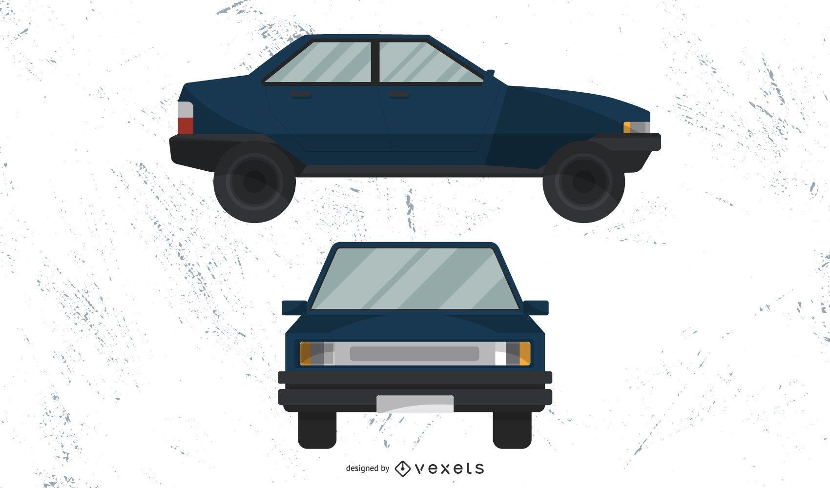 Old Vector Car