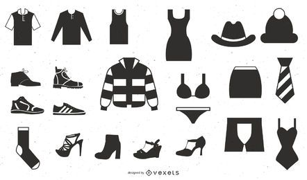 Vector Icon Set 25 Clothes Icons