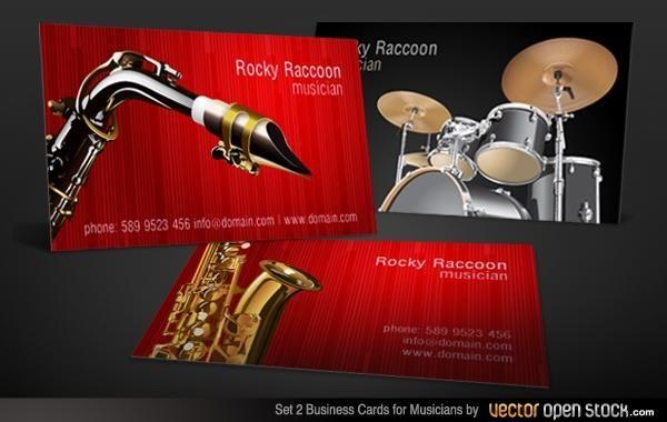 Conjunto de cartão de visita de músicos 2