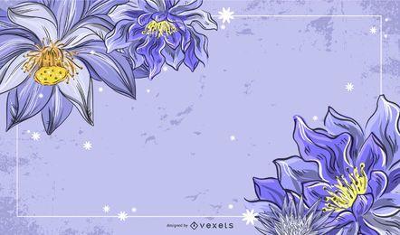 Moda flores moldura material