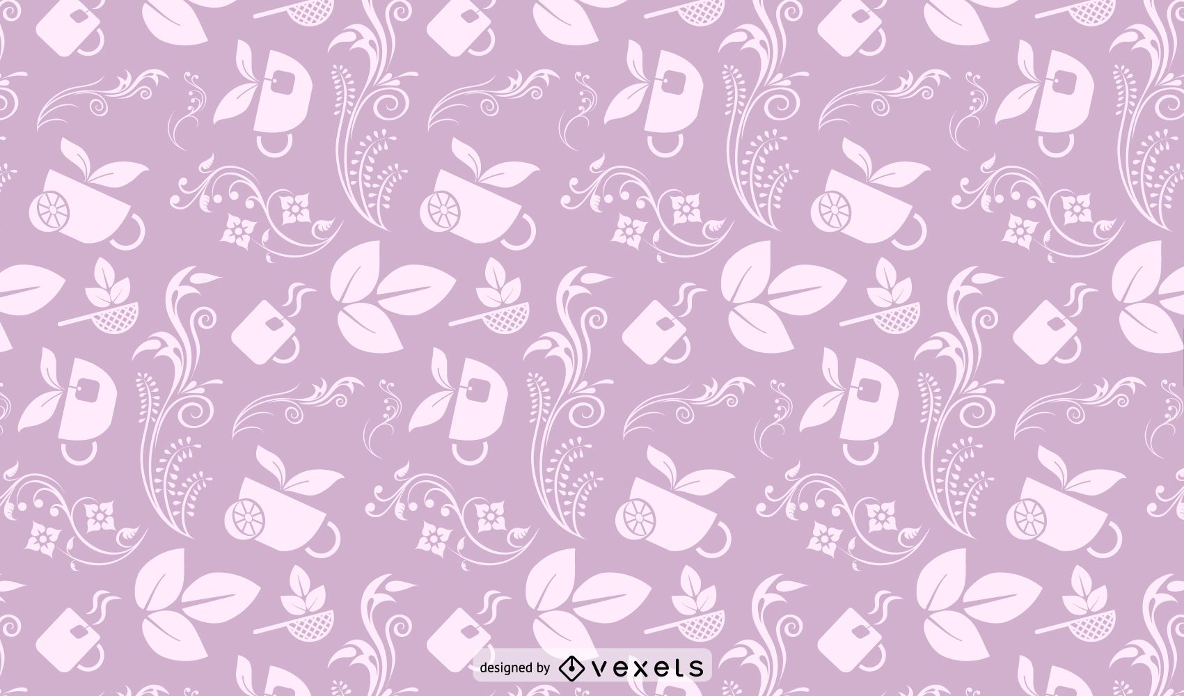 Floral and Cup Seamless Pattern