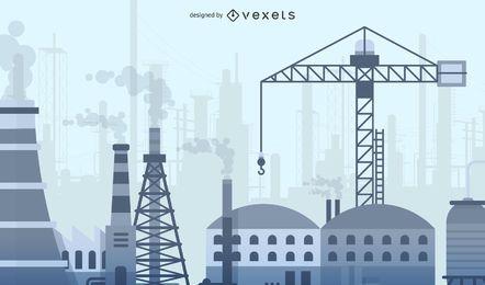 Material de planta de indústrias pesadas de vetor