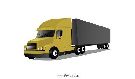 Ilustración de camión contenedor