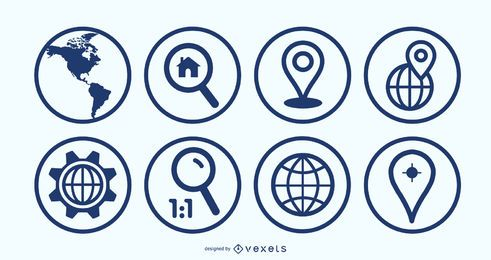 Ben Map Geolocalisation Icon Set