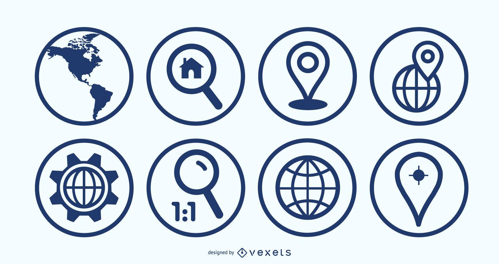 Ben Map Geolocalisation Icon Set