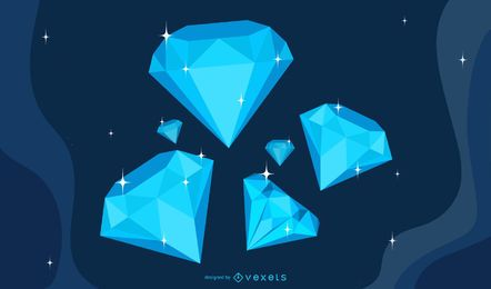 VECTOR DIAMANTE COOL MATERIAL