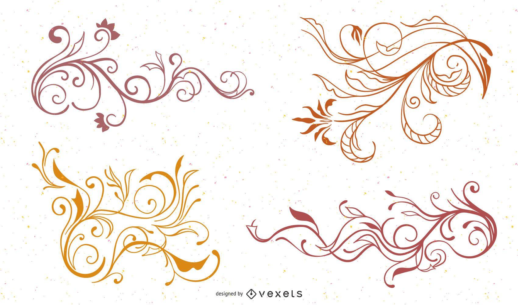 Swirl Flower Vector 1