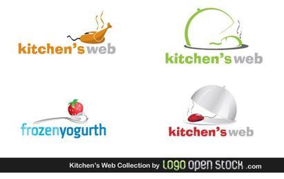 Coleção de logotipos da Web de cozinhas