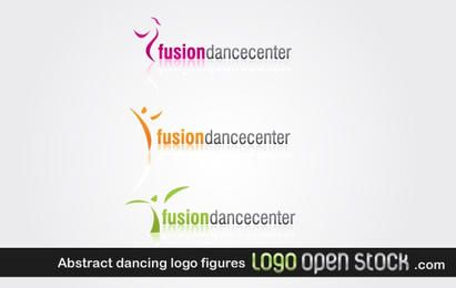 Abstract dancing logo figures