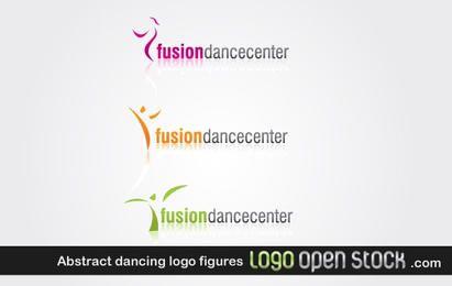Figuras Logotipo abstrato de dança
