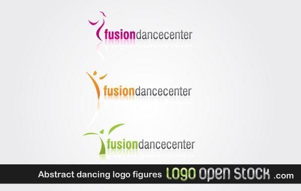 Abstratos, dançar, logotipo, figuras