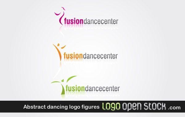 Figuras abstractas del logo de baile