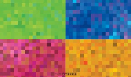 Vector rainbow background dots