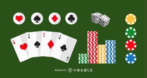 Vetor De Elementos De Poker