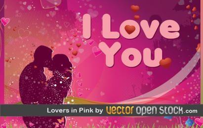 Amantes en rosa