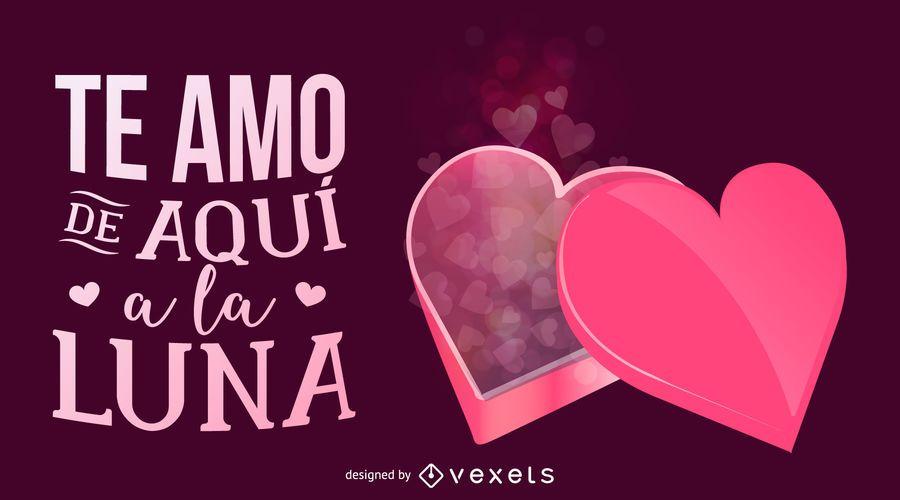 Ilustración de Vector de tarjeta de día de San Valentín