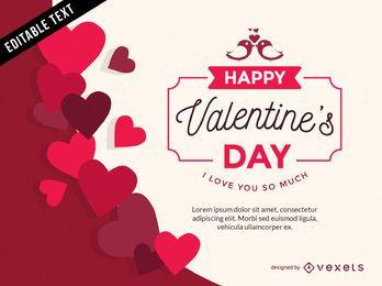 Día de San Valentín en forma de corazón vector