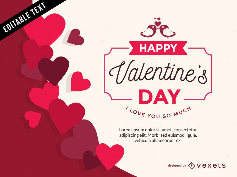 Valentine's Day heart-shaped vector