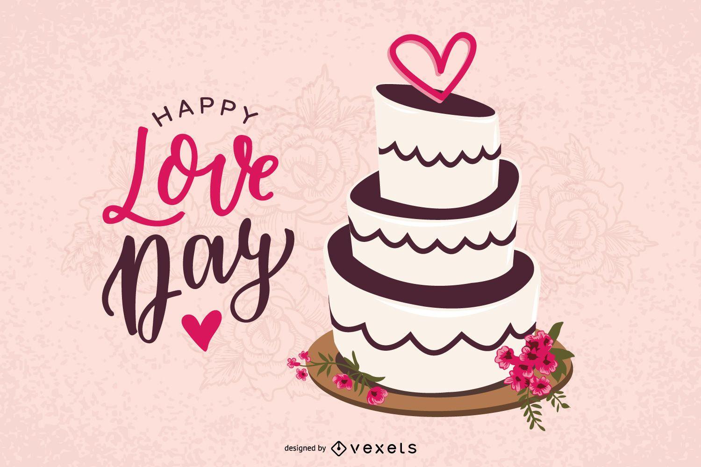 Diseño de vector de pastel de San Valentín