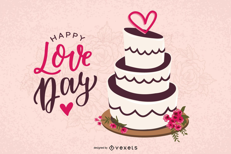 Valentine Day's Cake Vector Design