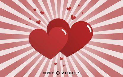 Corações de vetor