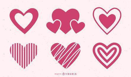 Conjunto de ícones de coração