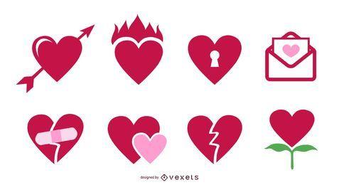 Vector icon Valentine Hearts