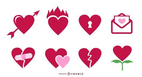 Vektor-Symbol Valentine Hearts