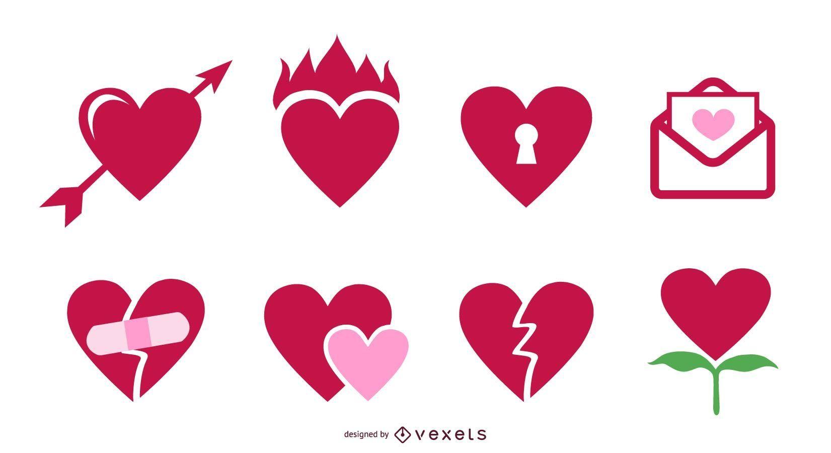 Vector icono Corazones de San Valentín