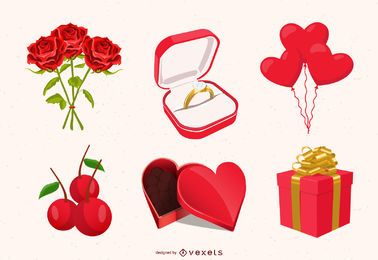 Ilustrações do dia de Vallentine
