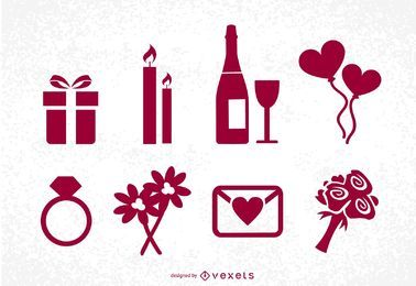 St Valentine's Day Icons Set