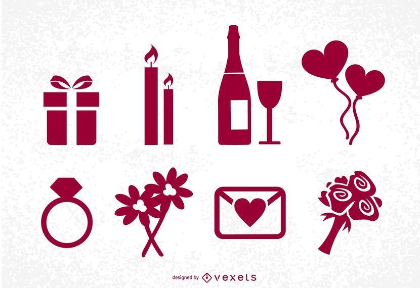 St Valentine's Day Icons Set