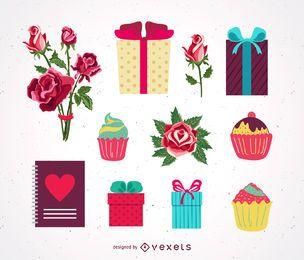 Valentinstag-Vektor-Geschenke