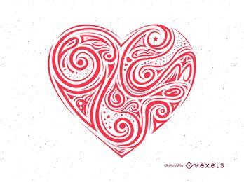 Dia dos namorados vetor coração vermelho