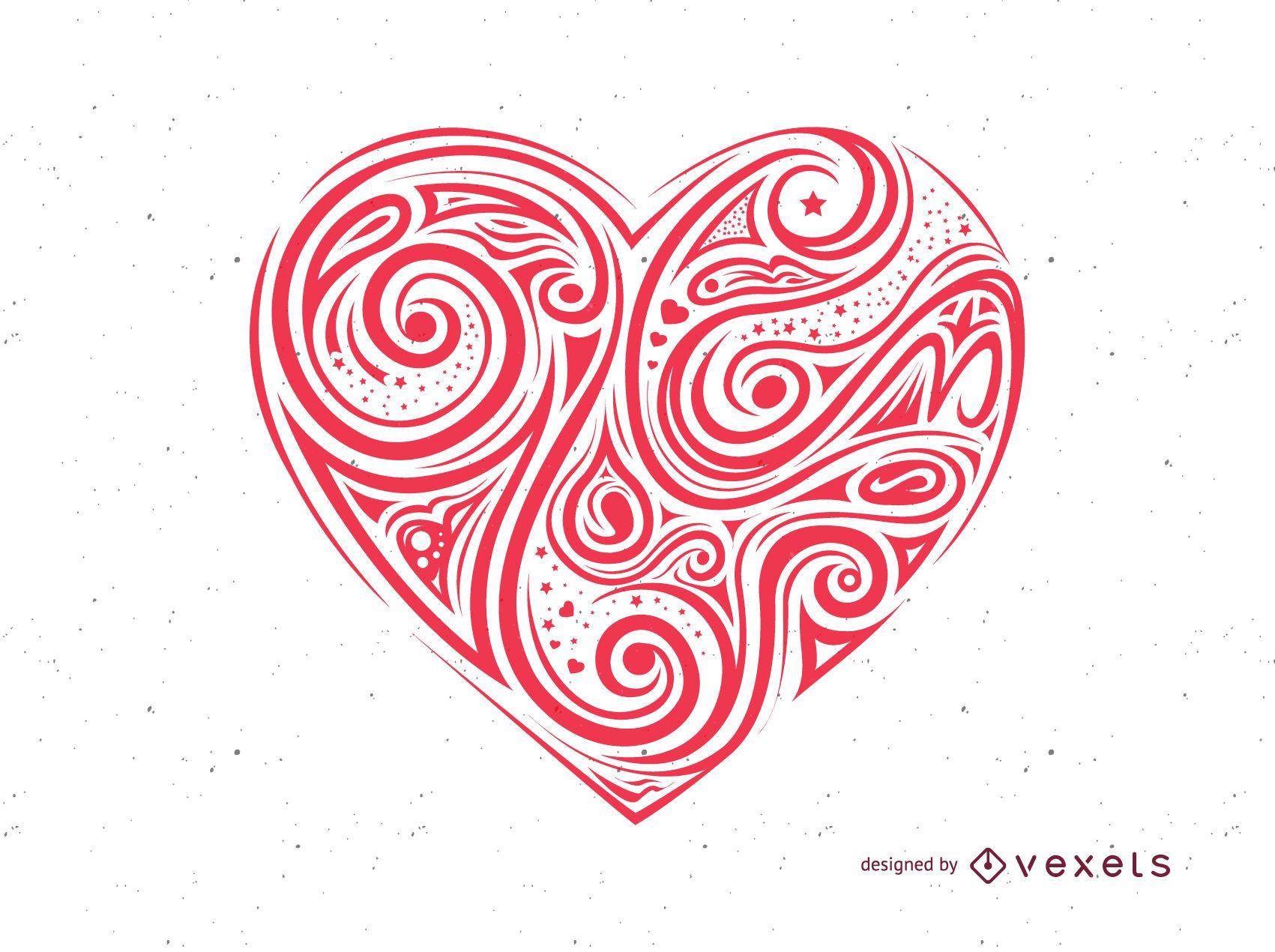 San Valentín Vector corazón rojo