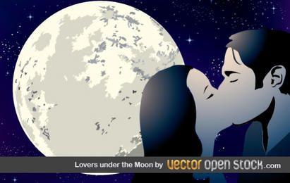 Amantes bajo la luna