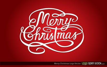 Logo de feliz navidad