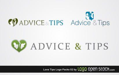 Paquete de Logo de Love Tips 02