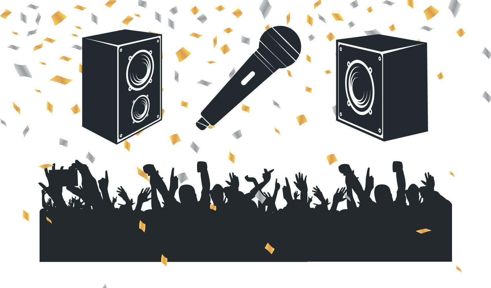 Vectores libres del partido de la música