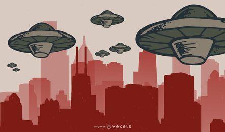 Vector de invasores espaciales